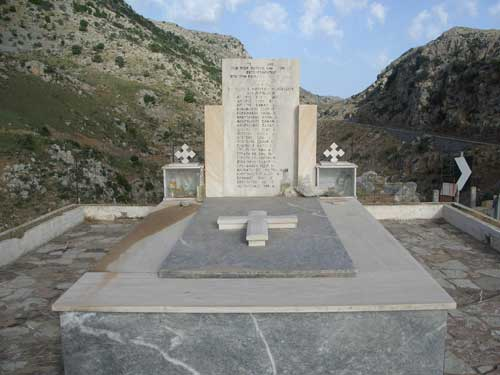 War memorial near Anogia