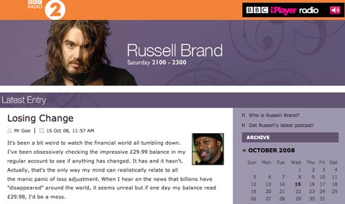 The Russell Brand blog