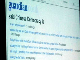 Guardian says...Chinese Democracy