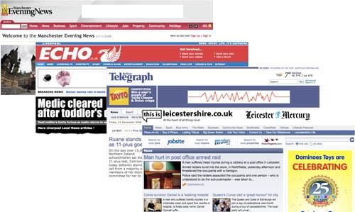 Regional press homepages