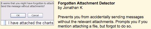Gmail forgotten attachment feature
