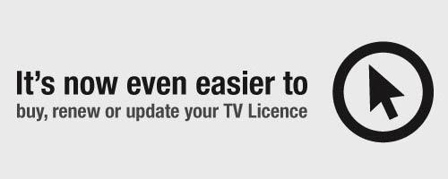 TV Licence online promo