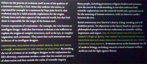 Social impact of Darwin info panel