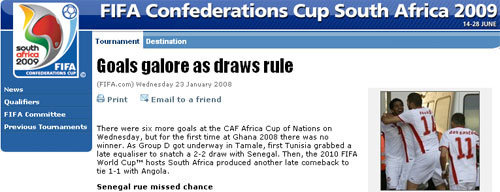 FIFA Confederations Cup coverage
