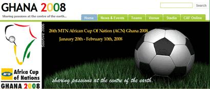 Ghana 2008 website banner
