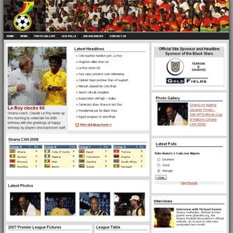 Ghana FA webiste