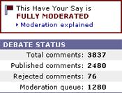 BBC moderation stats