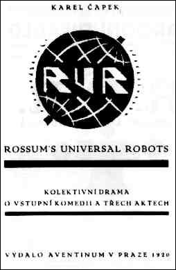 R.U.R. front cover