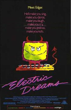 Electric Dreams movie poster from 1984