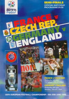 Euro 96 semi-final match programme