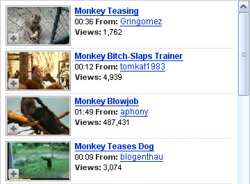 Related monkey clips on YouTube