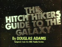 Hitch-Hikers Guide To The Galaxy television opening sequence