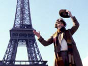 Tom Baker in Paris for The City Of Death