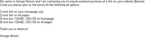 Spammy marketing mail