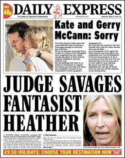 Daily Express front page apology