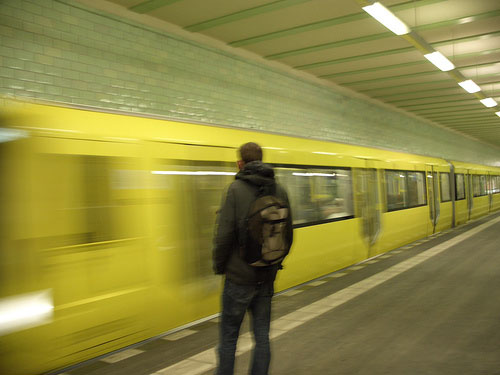 My Berlin metro action shot