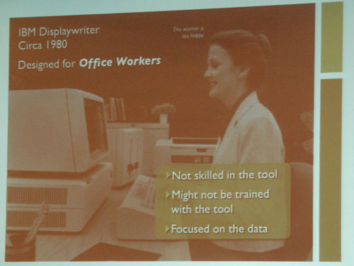 IBM Displaywriter in Jared Spool's presentation