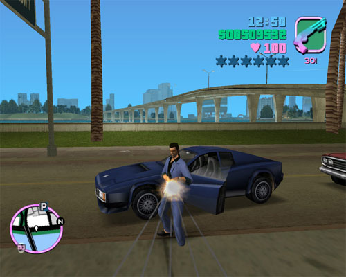 GTA: Vice City bridges and skyline