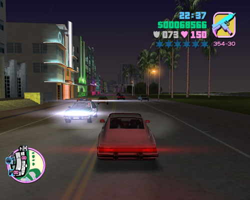GTA:Vice City version of Ocean Drive