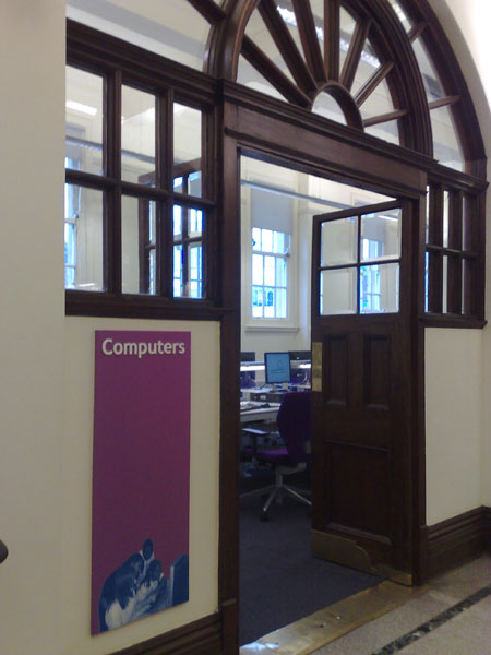 Picture of the Waltham Forest Central Library Computer Room