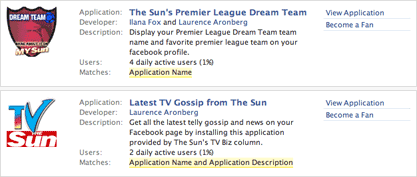 The Sun Facebook apps