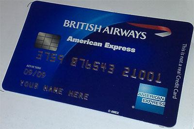 Fake British Airways American Express card