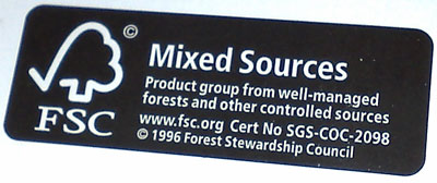 FSC stamp on British Airways junk mail