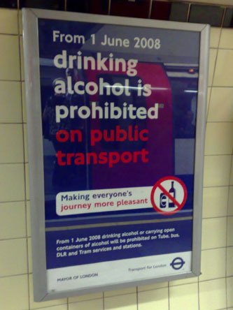The Boris anti-drinking poster