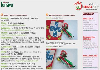Fansivu Euro2008 Homepage