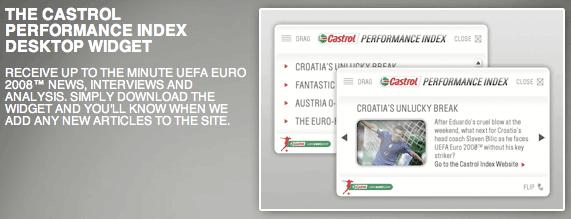 Euro2008 Castrol Widget