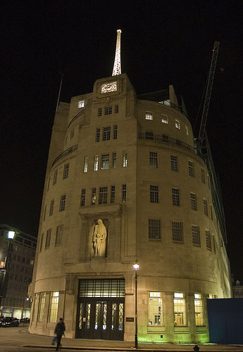 The BBC broadcasting house