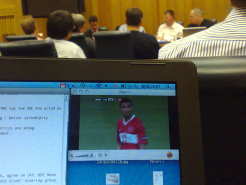 Streaming Euro2008 within Broadcasting House