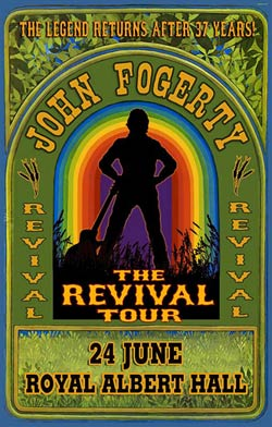 John Fogerty Royal Albert Hall poster