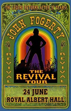 John Fogerty Royal Albert Hall poster