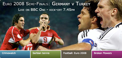 The BBC's semi-final homepage promo
