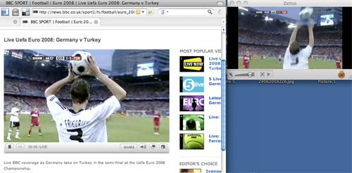 Two Euro 2008 semi-final streams - Zattoo is just ahead of the BBC