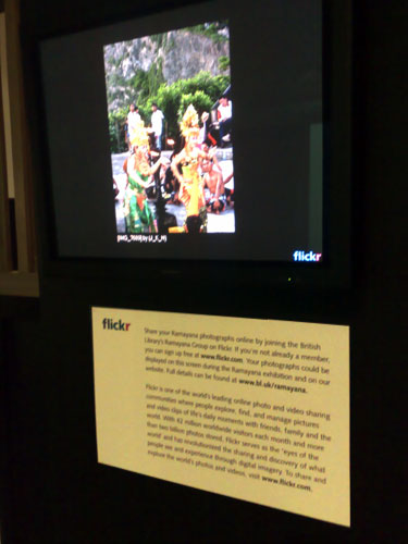 Interactive Flickr panel at the British Library
