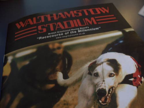 Walthamstow dog stadium programme
