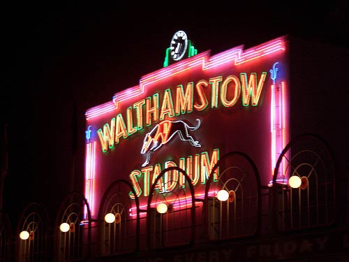 Walthamstow Stadium's neon sign