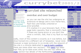 Currybet site in 2001