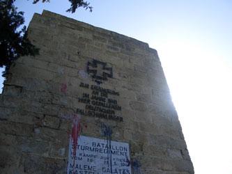 Germaniko Pouli monument in 2006