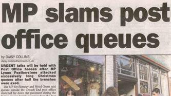 MP slams post office queues