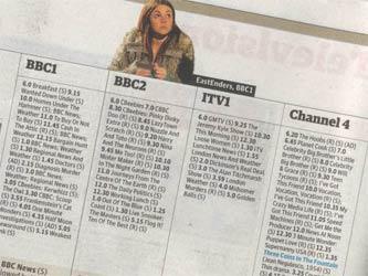 Guardian TV listings