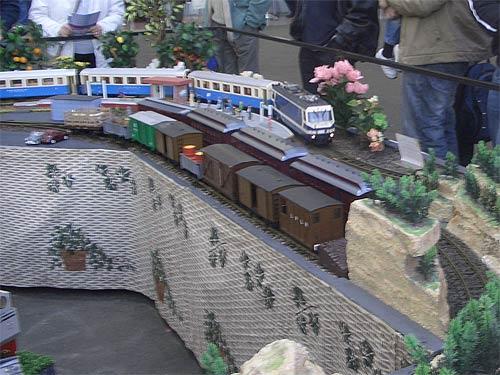Model track layout