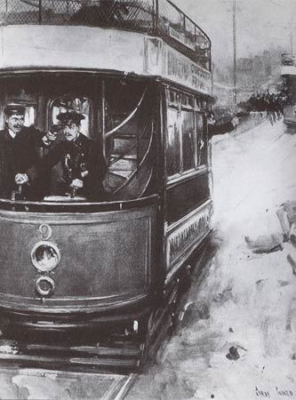 Tram hijack illustration