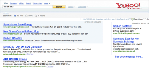 Yahoo! Search for Act On CO2