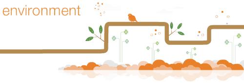 Orange environment banner