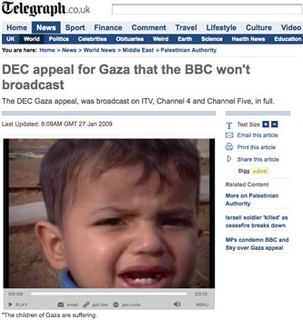 DEC appeal on The Telegraph site