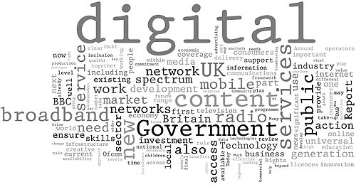 20090129 Digital Britain interim report Wordle