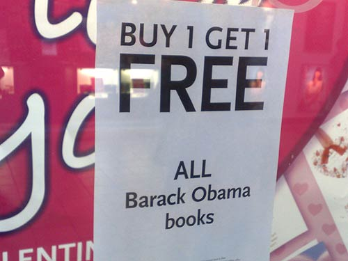 Barack Obama book offer